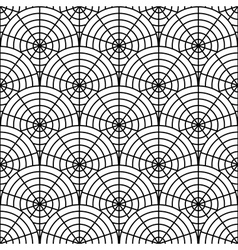 Design seamless monochrome spider web pattern vector