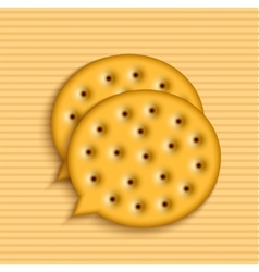 Modern cookie bubble speech vector