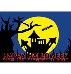 Halloween holiday castle vector