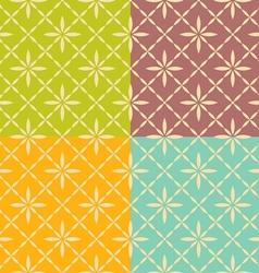 Seamless flower geometric pattern vector