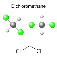 Structural chemical model of dichloromethane vector