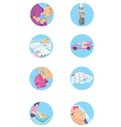 Set of baby and family icons vector