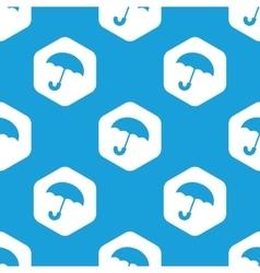 Umbrella hexagon pattern vector