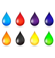 Drop of liquid collection set vector