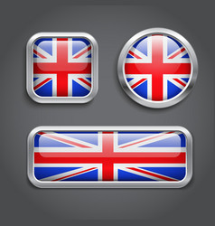 United kingdom flag buttons vector