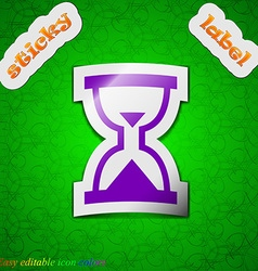 Hourglass sand timer icon sign symbol chic colored vector