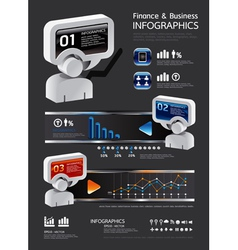 Info graphic finance and business vector