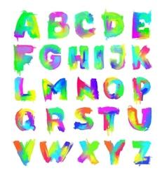 English painted alphabet vector