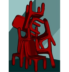 Chairs pile vector