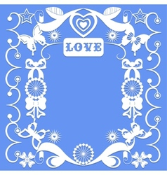 Decorative elements in the style of carving paper vector
