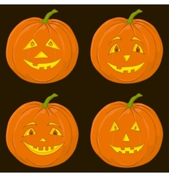 Pumpkin jack o lantern set vector