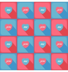 Funny pop-art pattern for love vector