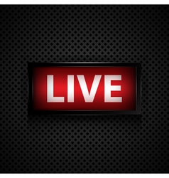 Live message studio sign vector