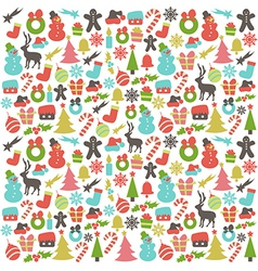 Colorful pattern with christmas elements vector