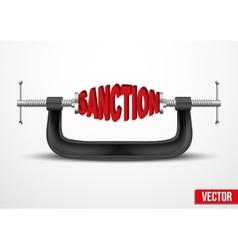 Symbol of sanctions vector