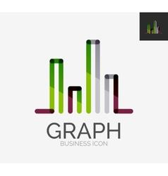 Minimal line design logo chart graph icon vector