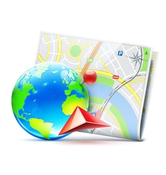 Global navigation concept vector