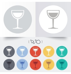 Wine glass sign icon alcohol drink symbol vector