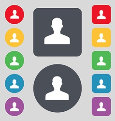 User person log in icon sign a set of 12 colored vector
