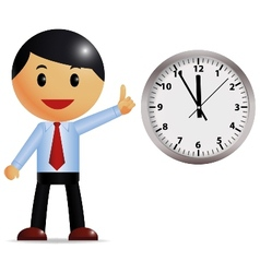 Businessman with time management vector