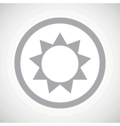 Grey sun sign icon vector