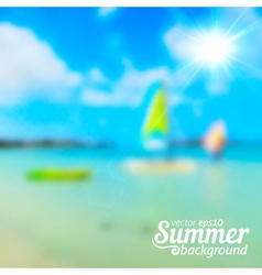 Bright blurred summer sea background vector