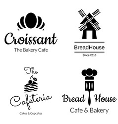 Bakery logo set vector
