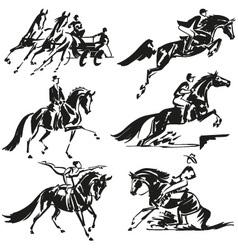 Equestrian olympics 3 vector