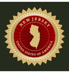 Star label new jersey vector