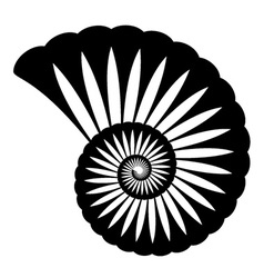 Shell silhouette vector