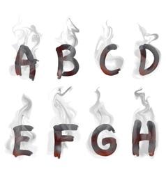 English smoking alphabet vector