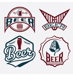Set of beer vintage labels vector