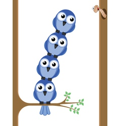 Bird teamwork vector