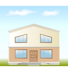Real estate for sale facade vector