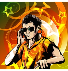 Disc jockey vector