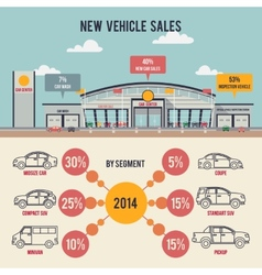 Car center with infographics vector