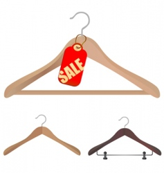 Hanger shopping concept vector