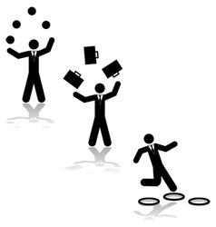 Business juggling vector