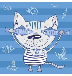 Sea cat vector