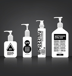 Cosmetics bottle packaging vector