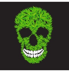 Abstract cannabis skull vector