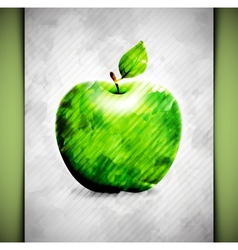 Apple watercolor vector