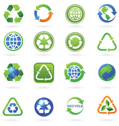 Recycle logos vector