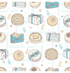 Seamless handmade soap vector
