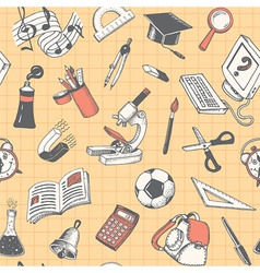 School and education seamless pattern vector