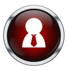 Red honeycomb business man icon vector