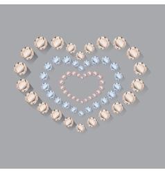 Heart symbol of brilliant diamonds vector
