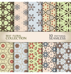 Abstract floral backdrops collection vector