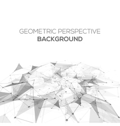 Abstract polygonal perspective low poly background vector