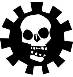 Gear skull vector